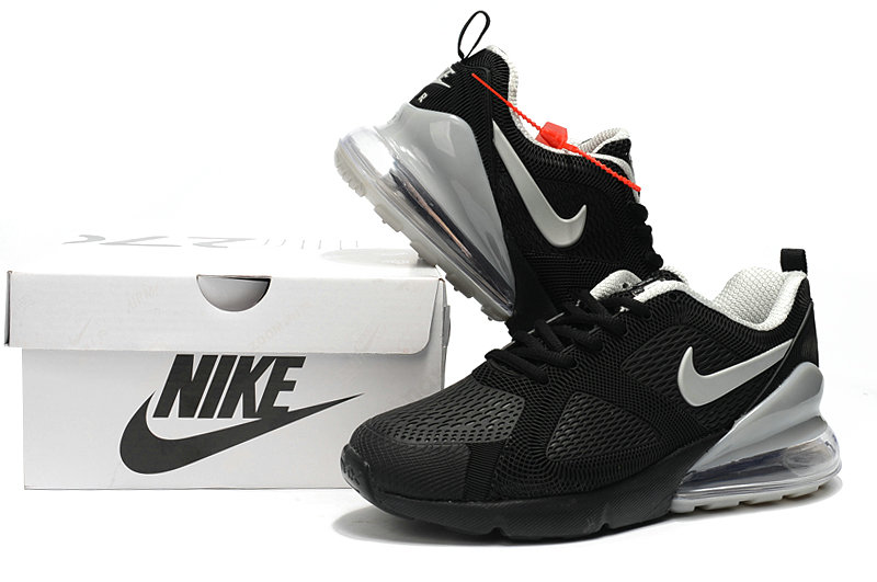 Wholesale Cheap Nike Air Max 270 Running Shoes Rubber Label Cool Grey Black