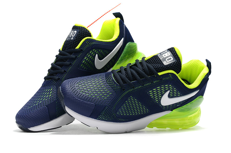 Wholesale Cheap Nike Air Max 270 Running Shoes Rubber Label Navy Blue Green