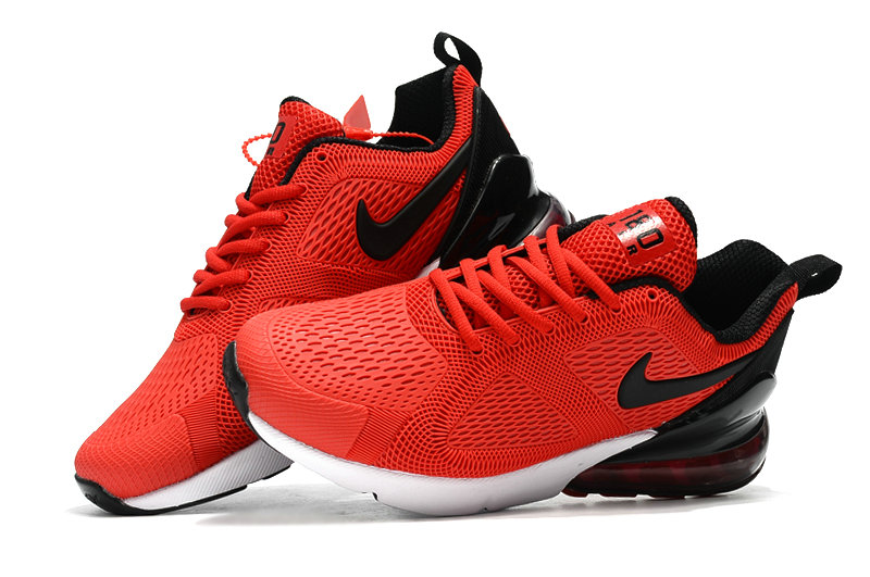 Wholesale Cheap Nike Air Max 270 Running Shoes Rubber Label Red Black White