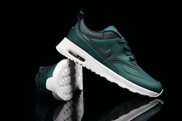 Cheap Wholesale Nike Air Max 87 Womens Leather Blackish green