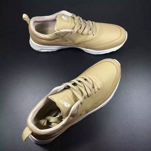 Cheap Wholesale Nike Air Max 87 Womens Leather Golden White