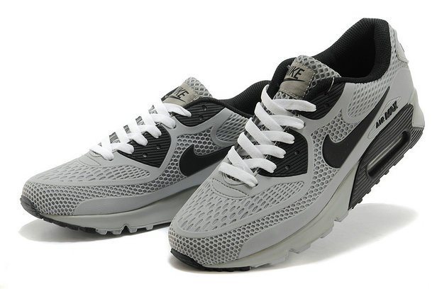 Cheap Wholesale Nike Air Max 90 Grey Black White
