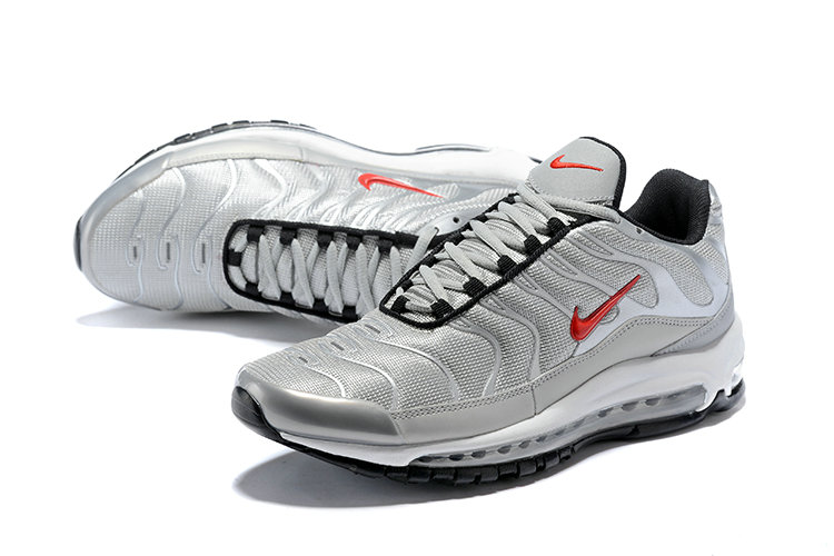 a1c27fa5793 Wholesale Cheap Nike Air Max 97 Plus Max TN Silver Red Black - China ...