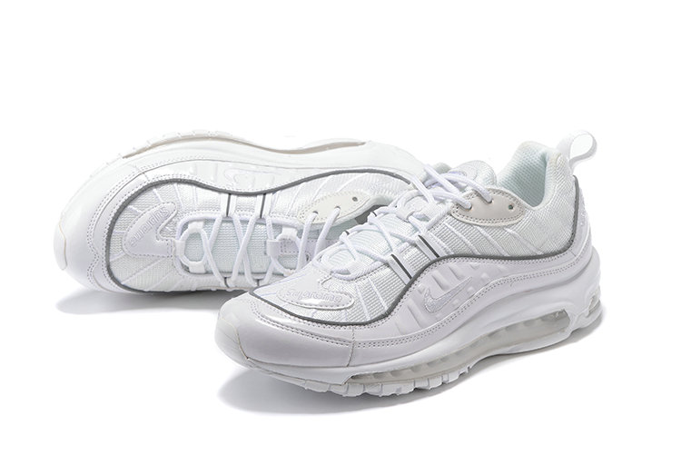 Cheap Wholesale Nike Air Max 98 Supreme Total White