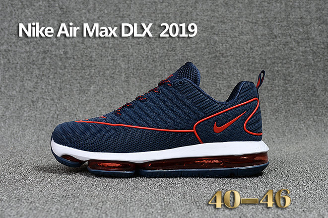 Cheap Wholesale Nike Air Max DLX 2019 Navy Blue Red White Running
