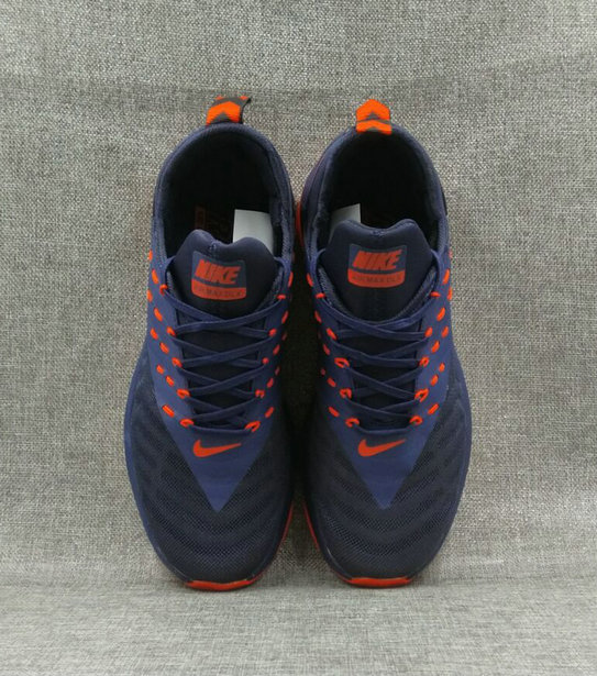Cheap Wholesale Nike Air Max DLX Orange Navy Blue Running Shoes