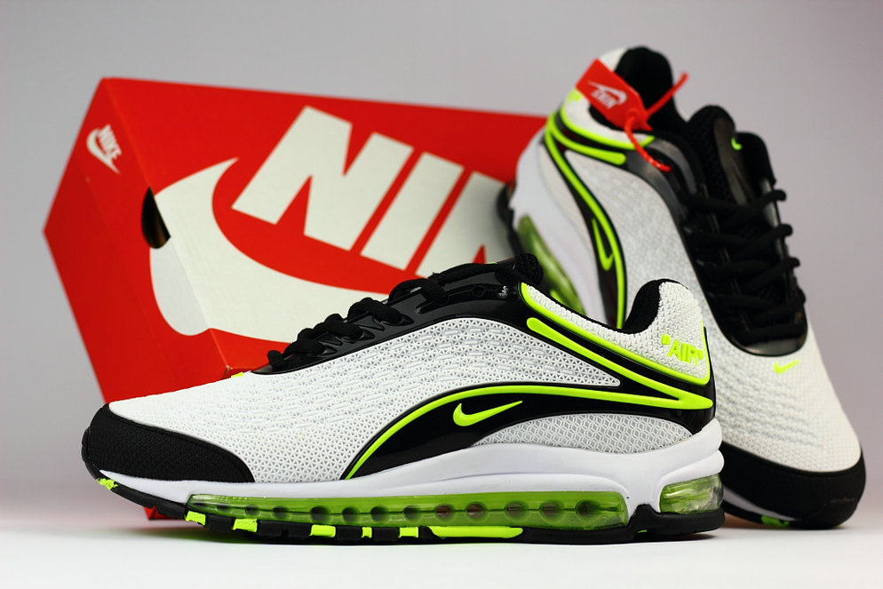 aa470b758b7 ... Wholesale Cheap Nike Air Max Deluxe 2019 Fluorescent Green White Black  Running Shoes ...