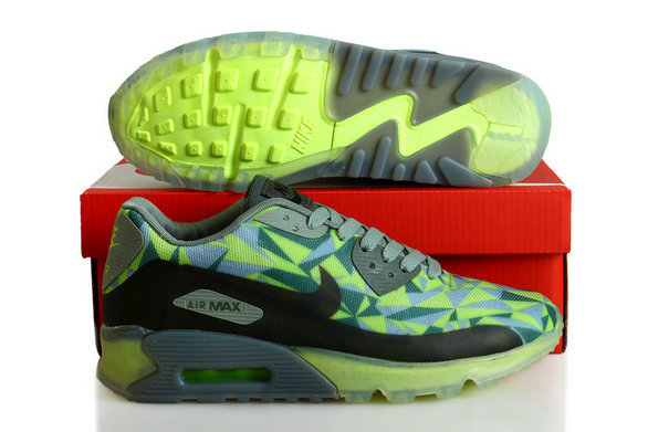 Cheap Wholesale Nike Air Maxs 90 ICE Grey Green Black