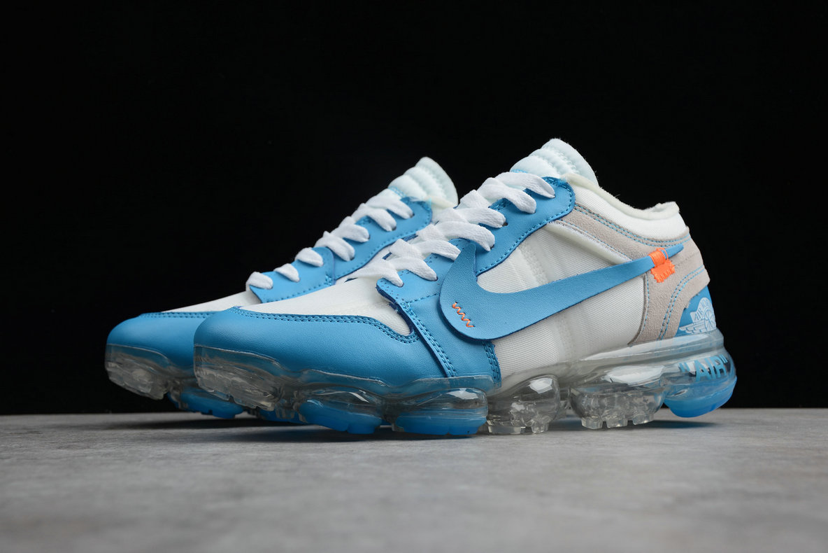 Wholesale Cheap Nike Air VaporMax Jordan 1 White Sky Blue Blanc