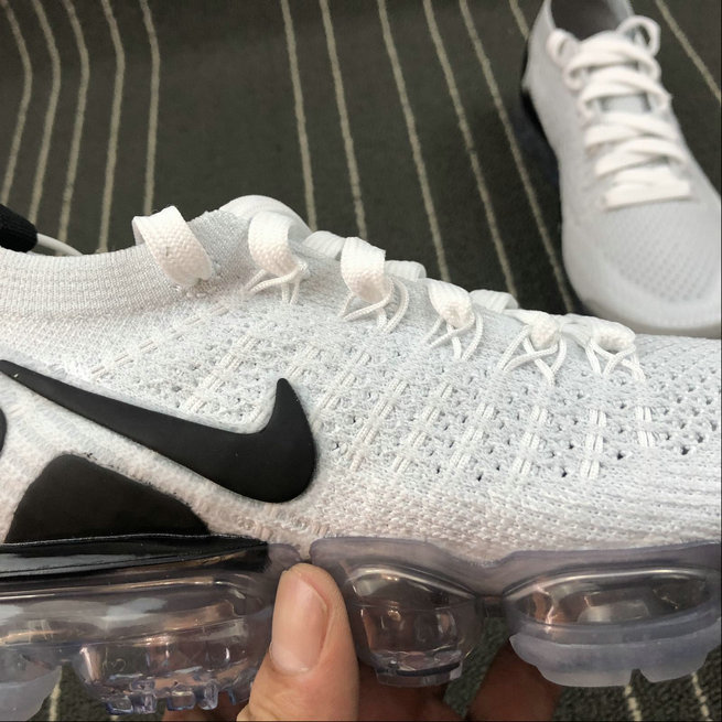 4742a927f8a ... Wholesale Cheap Nike Air Vapormax FLYKNIT 2.0 942843-103 White Black  Blanc Noir