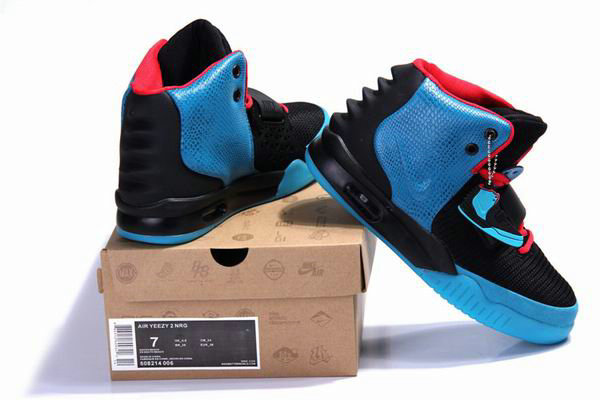 Cheap Wholesale Nike Air Yeezys 2 Women Blue Red Black