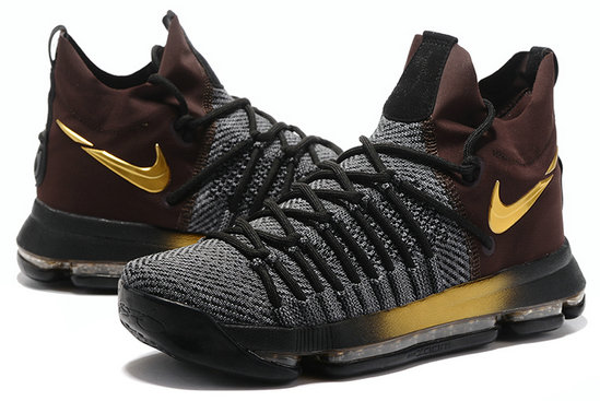 Cheap Wholesale Nike KD 9 IX Playoff Elite Edition Gold Black