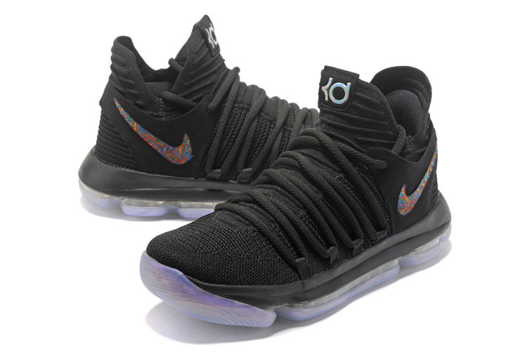 Cheap Wholesale Nike Kevin Durant 10 X Black Light Blue Colorful