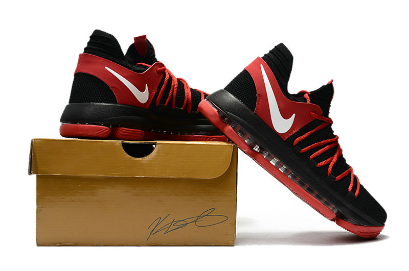 Cheap Wholesale Nike Kevin Durant 10 X Sneakers Black White Fire Red