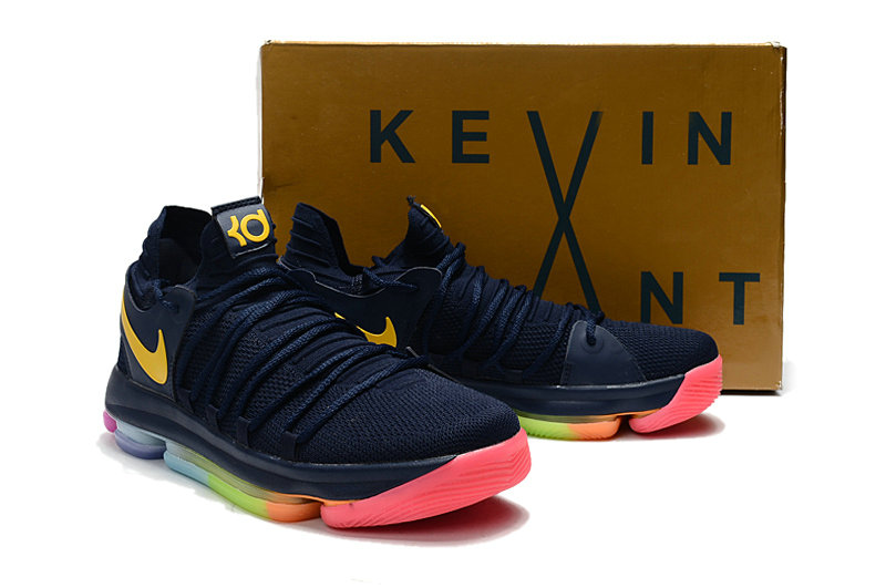 Cheap Wholesale Nike Kevin Durant 10 X Sneakers Yellow Navy Blue Green orange
