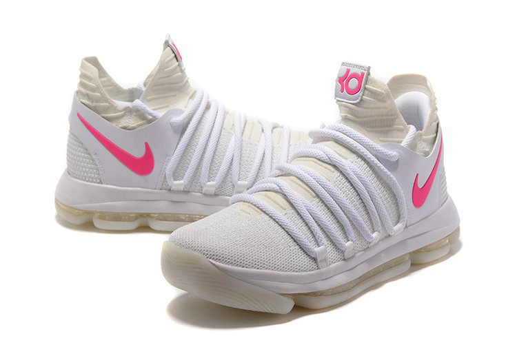 Cheap Wholesale Nike Kevin Durant 10 X White Pink Noctilucent shoes