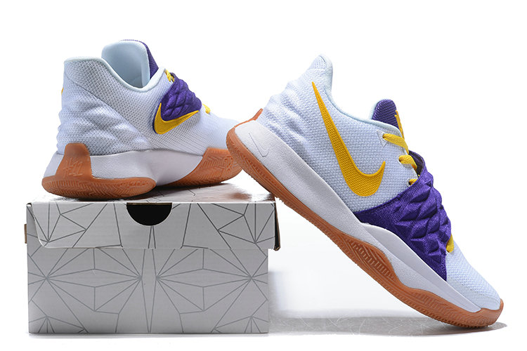0172402cee0 ... Wholesale Cheap Nike Kyrie Flytrap Irvings Basketball Shoes Yellow  Purple White