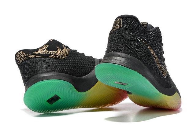 Cheap Wholesale Nike Kyrie Irving 3 Black Gold Pink Grass Green Colorful