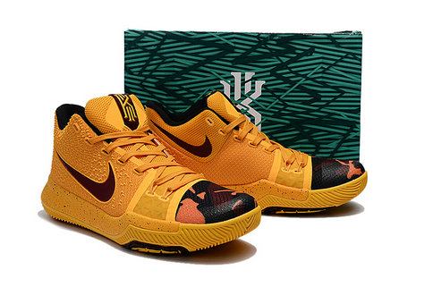 Cheap Wholesale Nike Kyrie Irving 3 III Yellow Wine Red