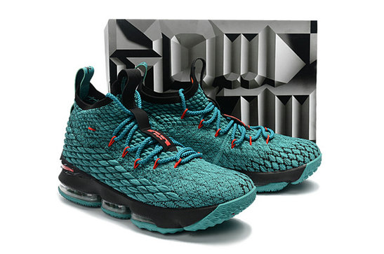 Cheap Wholesale Nike Lebron 15 Aqua Green Black Red