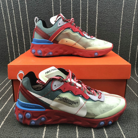 buy online 42f15 82301 ... Cheap Wholesale Nike React Element 87 Undercover Cream ColorRed White  Big Red Beige Blanc Rouge ...