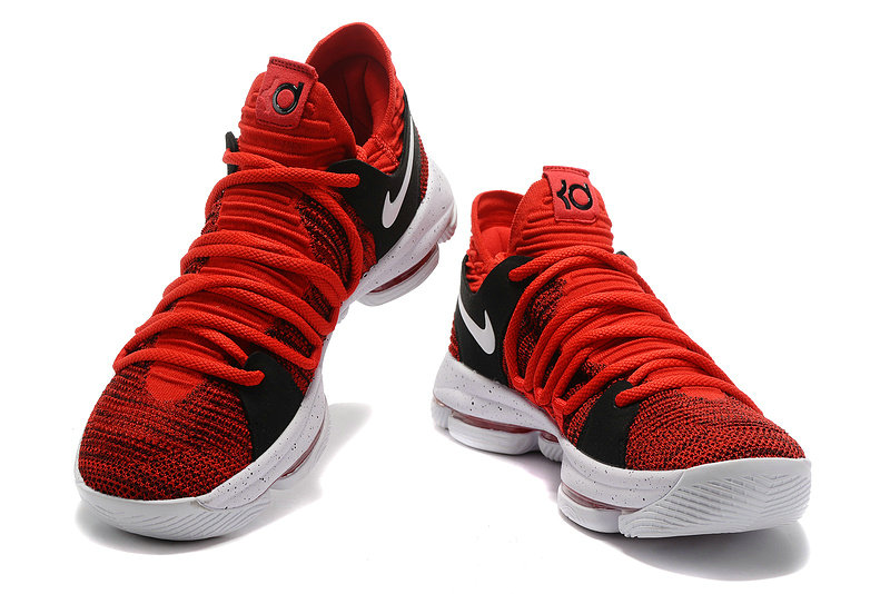 Cheap Wholesale Nike Zoom KD 10 LMTD EP University Red Black White