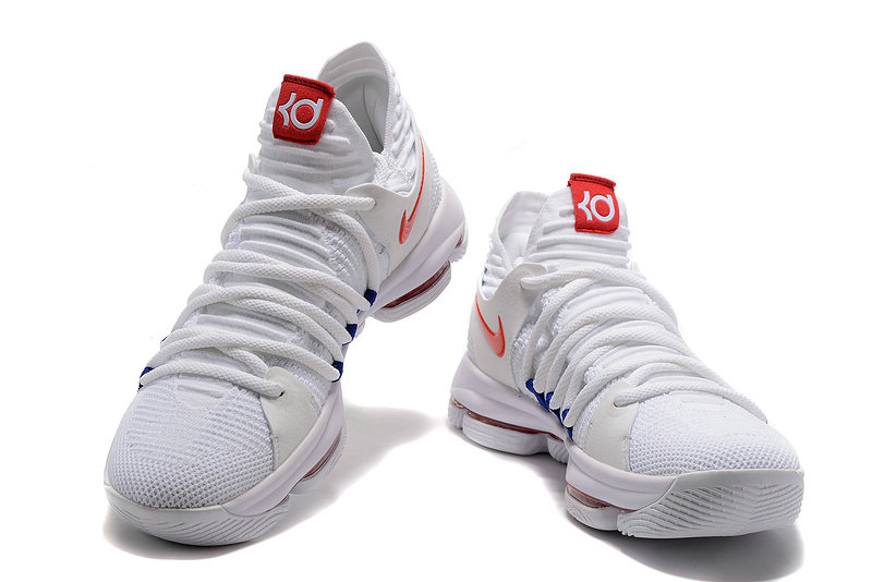 Cheap Wholesale Nike Zoom KD 10 LMTD EP University Red White Blue