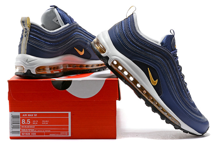 Cheap Wholesale NikeLab Air Max 97 Premium Blue Yellow White Black