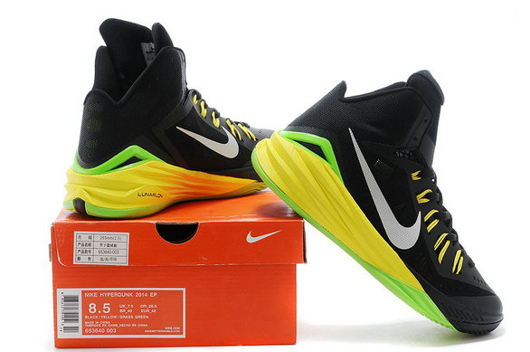 Hyperdunk Black Yellow Green White Mens Cheap Wholesale