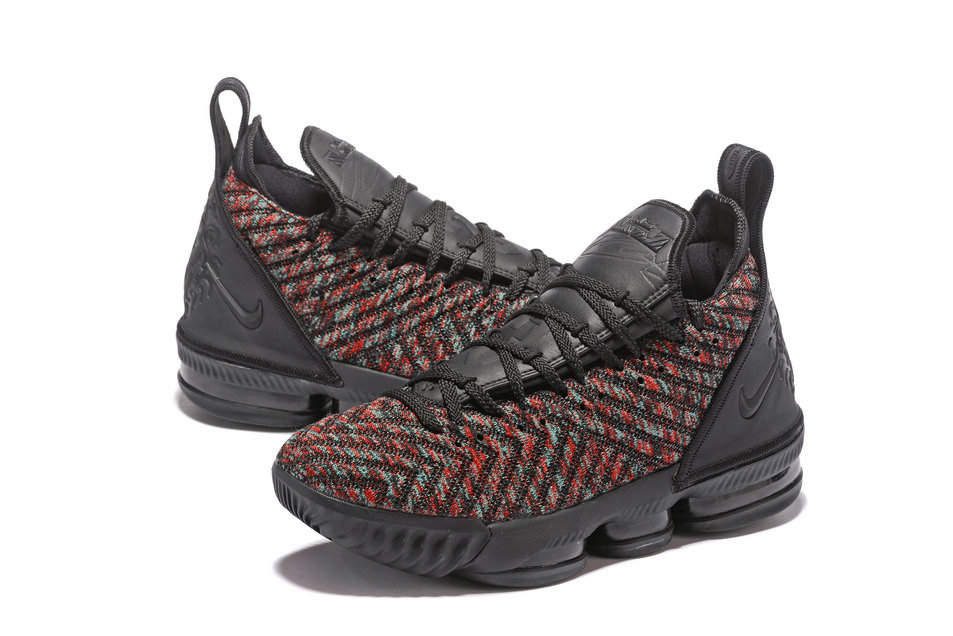 2308951fced ... Wholesale LeBron James Officially Unveils The Nike LeBron 16  Black-Black-University Red ...