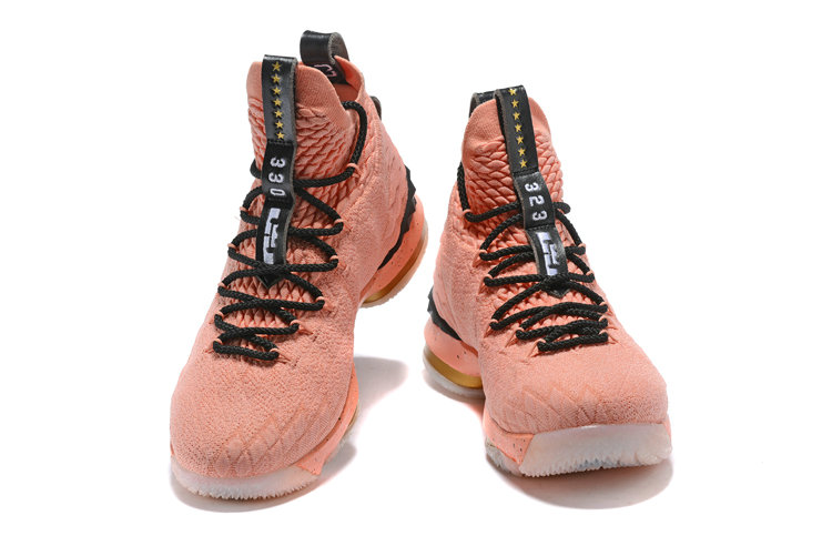aa3cf29bd9b ... Cheap Wholesale Mens Nike LeBron 15 Hollywood All-Star Rust Pink  Metallic Gold-Black ...