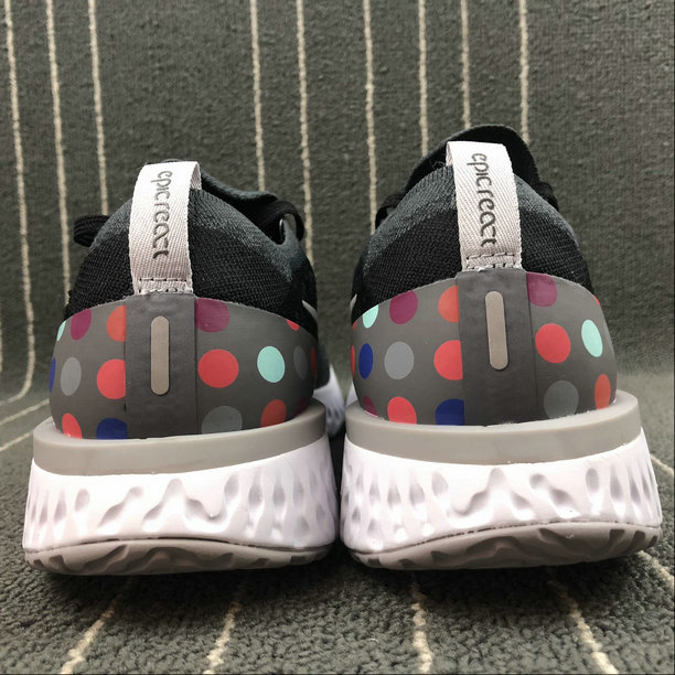 435a58bf780f ... Wholesale NIKE EPIC REACT FLYKNIT WOMENS AJ7283-996 BLACK AND GRAY DOTS  POINTS NOIRS ET