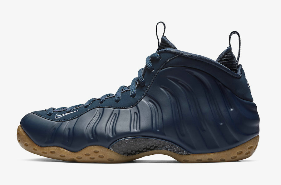 Wholesale Cheap Nike Air Foamposite One Midnight Navy Gum Light Brown-White-Midnight Navy 314996-405