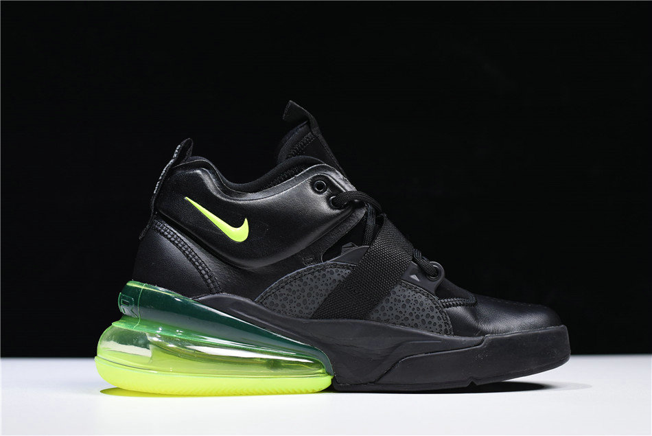 Cheap Wholesale Nike Air Force 270 Black Fluorescent Green Free Shipping