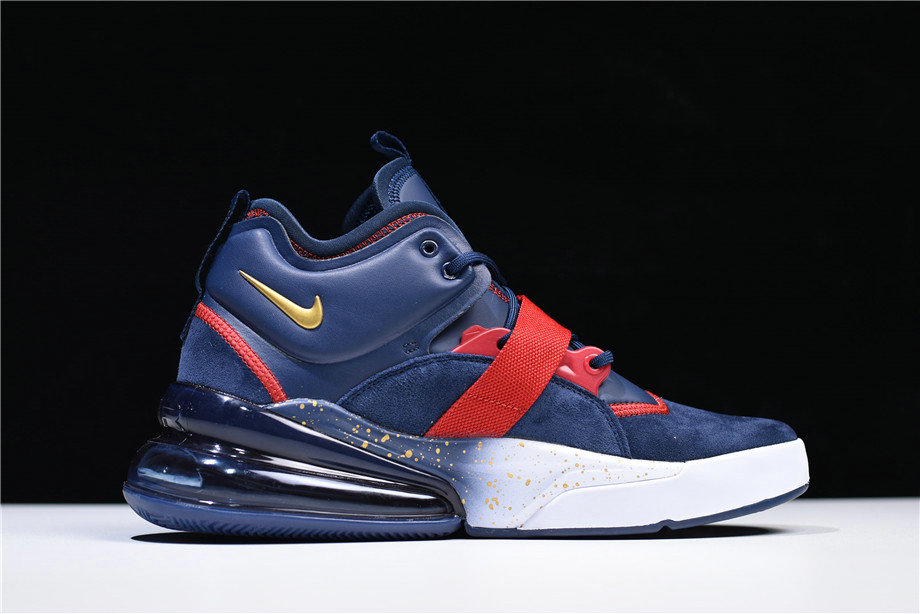 Cheap Wholesale Nike Air Force 270 Dream Team Obsidian Metallic Gold-Gym Red-White AH6772-400