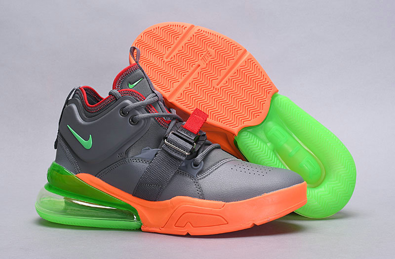 Wholesale Nike Air Force 270 Gaey Orange Green