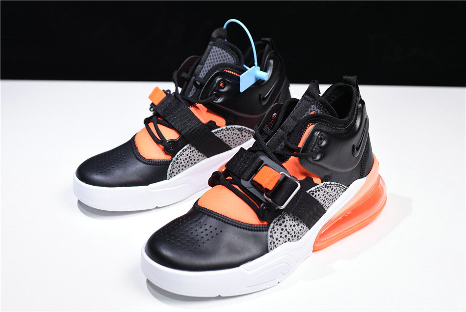 Cheap Wholesale Nike Air Force 270 Safari Black Hyper Crimson-Wolf Grey-White AH6772-004