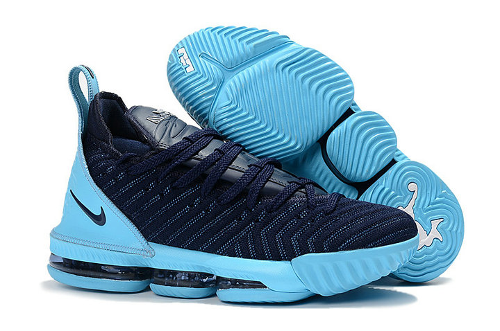 watch 1d323 0e0dc ... Cheap Wholesale Nike LeBron 16 Navy Blue Jade-White Mens Size Free  Shipping ...