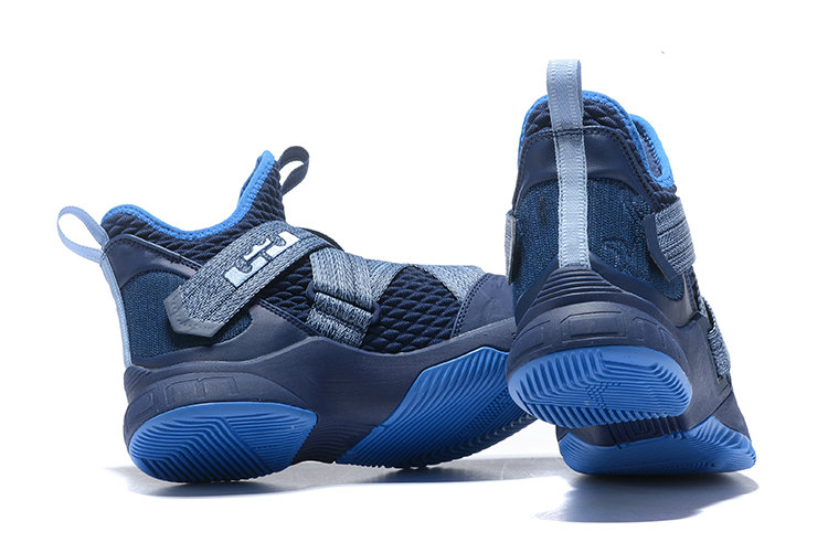 Cheap Wholesale Nike LeBron Soldier 12 AO2609-401 Blackened Blue Work Blue-Gym Blue