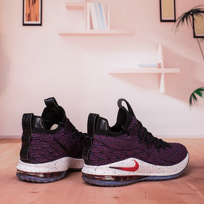 reputable site 27bc2 a2a33 ... Wholesale Nike Lebron James 15 Low Cheap Purple Black White Red