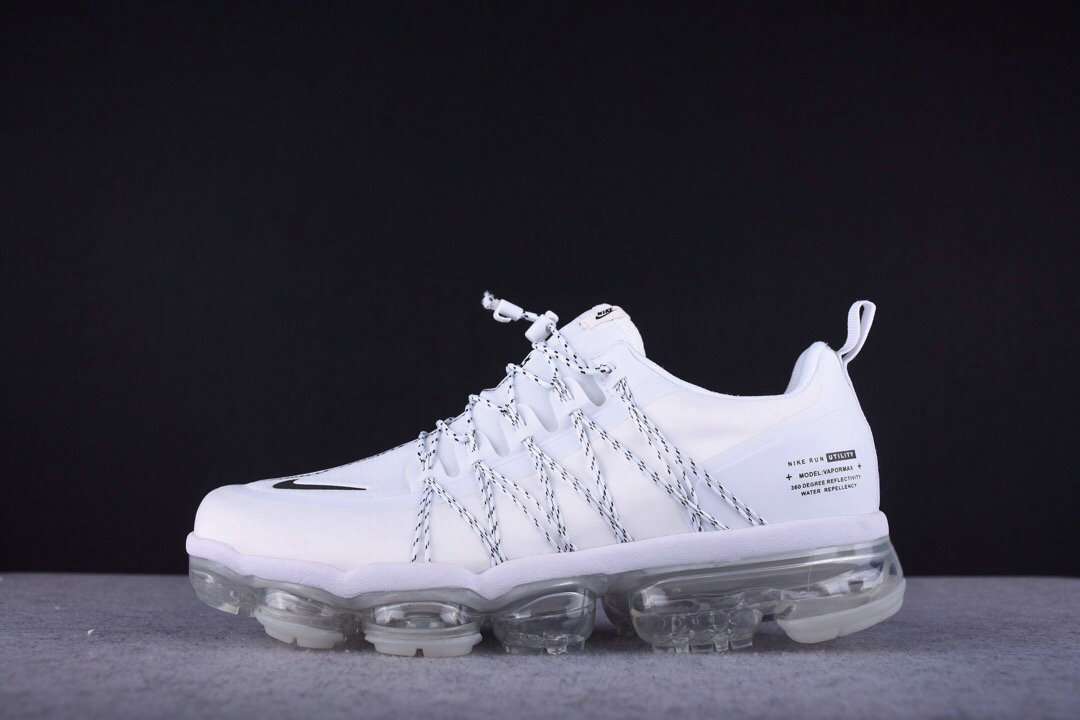 Wholesale Cheap Nike Vapormax Run Utility White Reflect Silver-White-White AQ8811-100