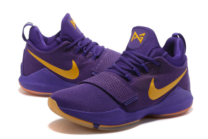 Official Cheap Wholesale Nike PG 1 Mens Purple Yellow