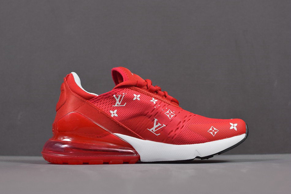 Cheap Wholesale Supreme X Nike Air Max 270 Red White Mens And