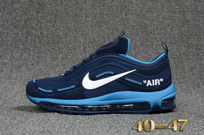 Undefeated x Nike Air Max 97 Blue Navy Blue Cheap Wholesale Air Max 97