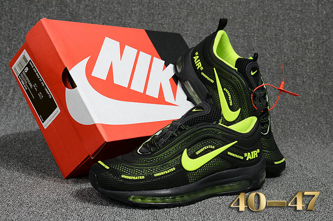 Undefeated x Nike Air Max 97 Fluorescent Green Black Cheap Wholesale Air Max 97