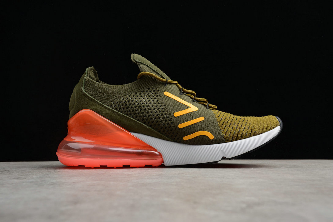 huge discount a83ee 08852 ... Cheap Wholesale WMNS Nike Air Max 270 Flyknit Army Green Dark Green  Black Red ...