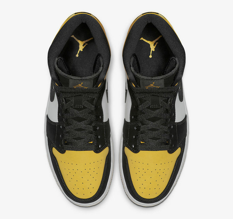 Where To Buy Cheap Nike Air Jordan 1 Mid Yellow Toe Black-Tour Yellow-White 852542-071