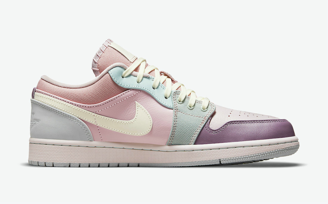 Where To Buy Womens 2021 Cheapest Nike Air Jordan 1 Low Appears in Mismatched Multi-Material Make DJ5196-615