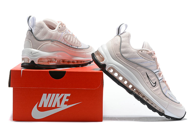 Wholesale Womens Air Max 98 2018 New Arrival Pink Black White ... 2ac02c1945